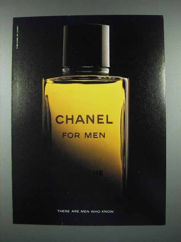 1984 Chanel For Men Cologne Ad - Men Who Know