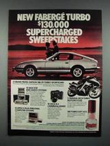 1982 Faberge Turbo Cologne Ad - Datsun 280-ZX Turbo - $14.99