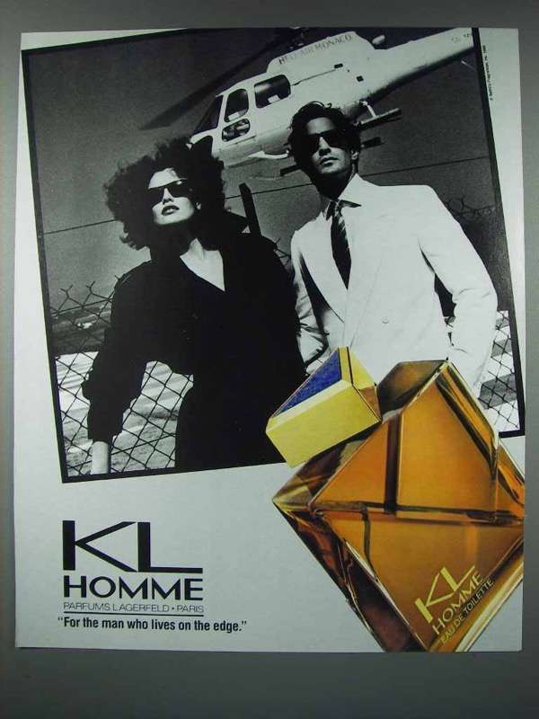 1986 KL Lagerfeld Homme Cologne Ad