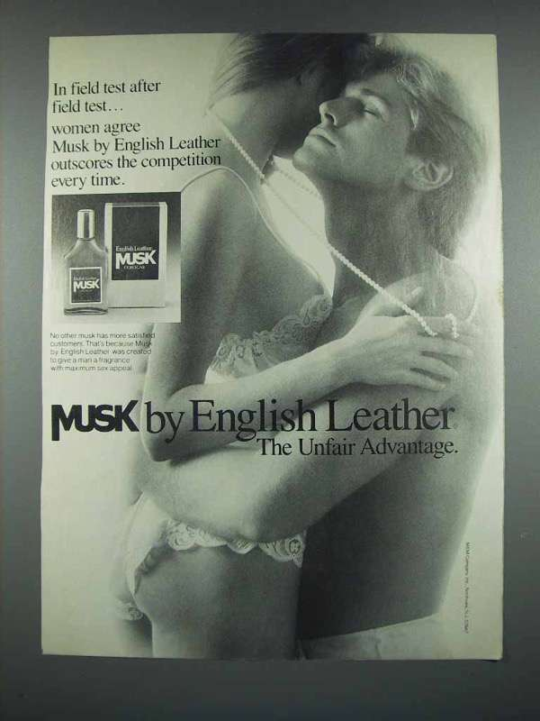 1988 English Leather Musk Cologne Ad - Field Test