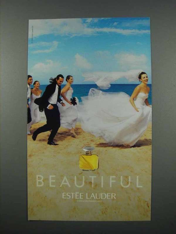 2001 Estee Lauder Beautiful Perfume Ad