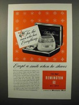 1952 Remington 60 De Luxe Electric Shaver Ad - $14.99
