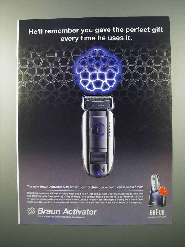2005 Braun Activator Shaver Ad - The Perfect Gift