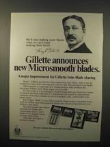 1979 Gillette Microsmooth Razor Blades Ad - $14.99