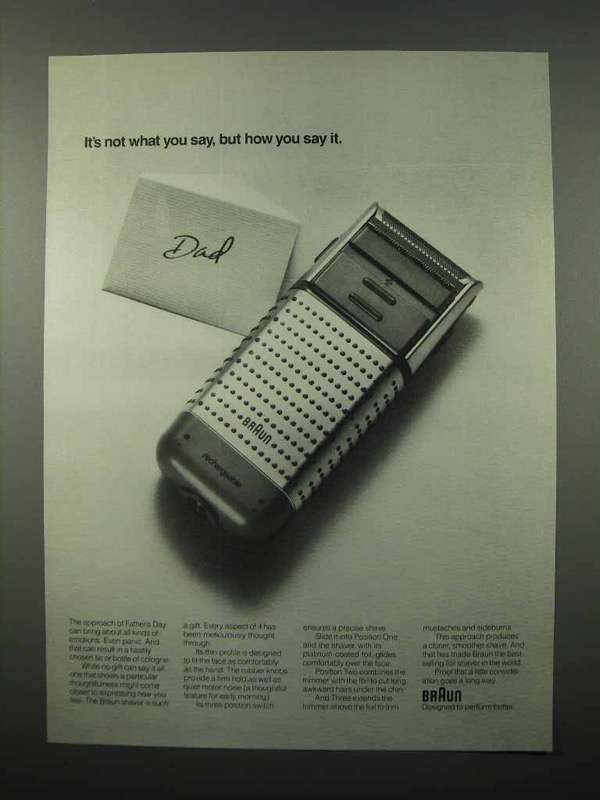 1990 Braun Electric Shaver Ad - How You Say It