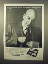 1976 Gillette Twinjector Razor Blades Ad, Telly Savalas - $14.99