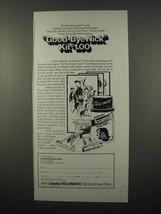 1973 Gillette Techmatic Razor, Foamy Face Saver Ad - $14.99