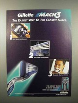 2000 Gillette Mach 3 Razor Ad - Easiest Closest Shave - $14.99