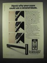 1972 Gillette Trac II Razor Ad - Use a Second Blade - $14.99