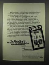 1973 Gillette Trac II Razor Ad - One Blade Better - $14.99