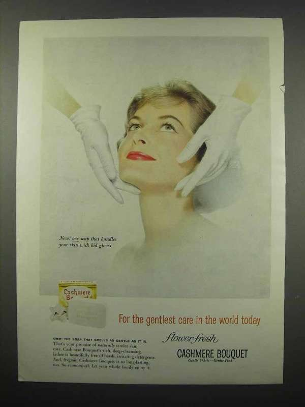 1959 Cashmere Bouquet Soap Ad - Gentlest Care
