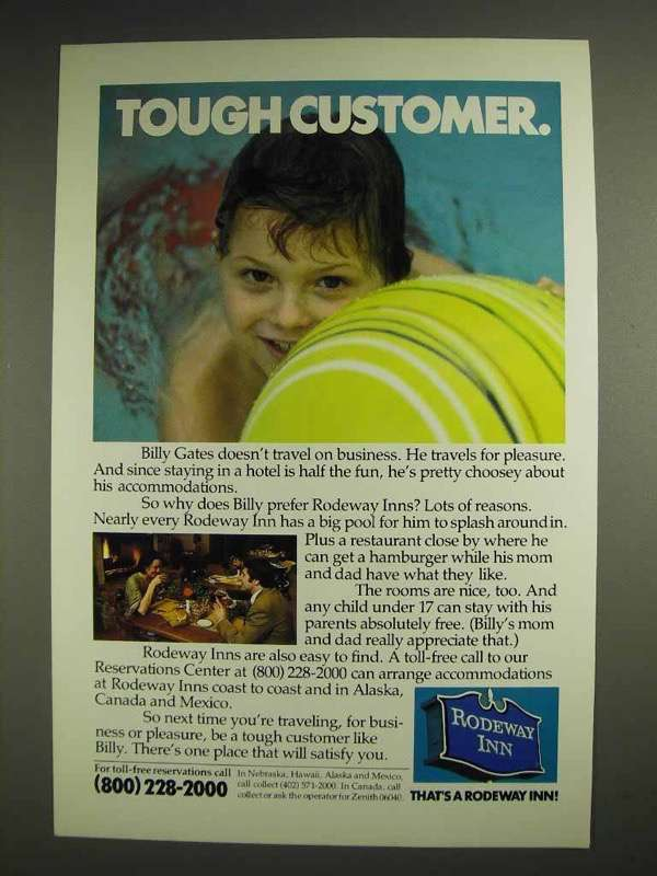 1978 Rodeway Inn Motel Ad - Tough Customer
