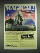 1987 Hilton at Walt Disney World Village Hotel Ad - $14.99