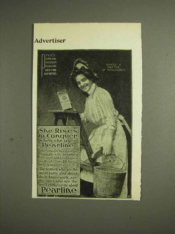 1904 Pearline Detergent Ad - She Rises to Conquer