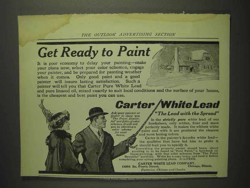 1914 Carter White Lead Paint Ad - Get Ready