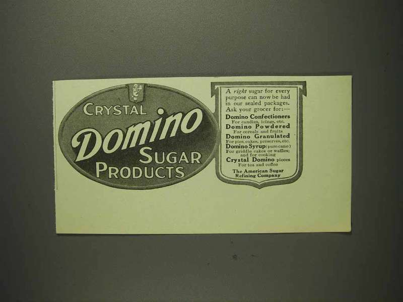 1914 Domino Sugar Products Ad - Cyrstal