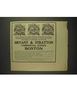 1914 Bryant & Stratton Commercial School Boston Ad - $14.99