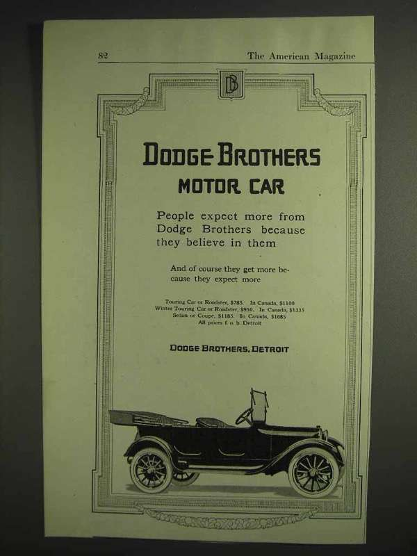 1917 Dodge Brothers Motor Car Ad