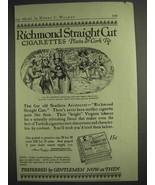 1917 Richmond Straight Cut Cigarettes Ad - Plain or Cork Tip - $14.99