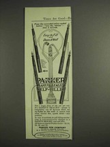 1917 Parker Pen Ad - Easy to Fill and Does it Well - $14.99