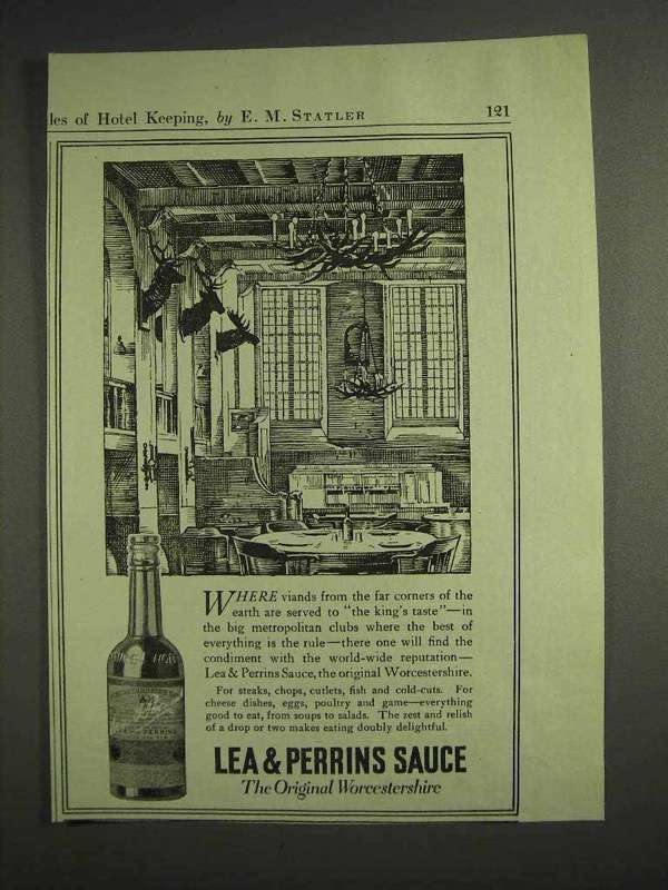 1917 Lea & Perrins Worcestershire Sauce Ad