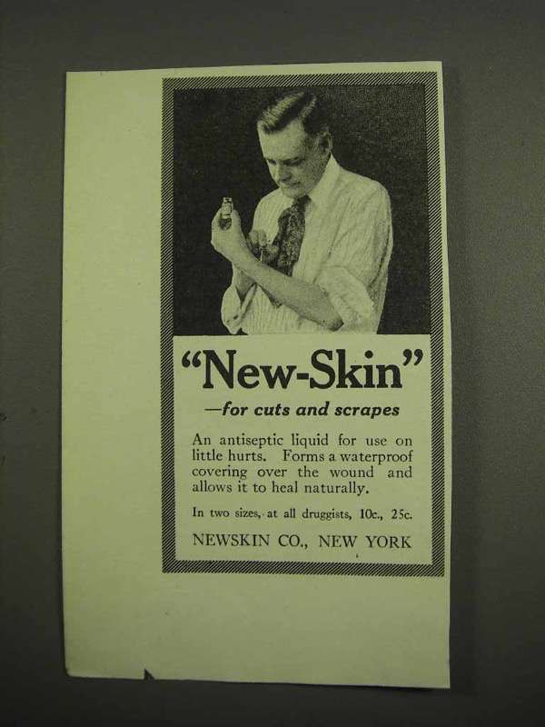 1917 New-Skin Antiseptic Ad