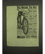 1917 Mead Ranger Bicycle Ad - Try before You Buy - $14.99