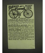 1917 Mead The Ranger Bicycle Ad - Choice of 44 Styles - $14.99
