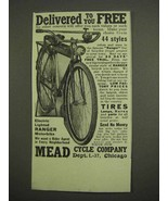 1917 Mead Electric Lighted Ranger Motorbike Ad - $14.99