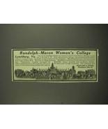 1917 Randolph-Macon Woman's College Ad - $14.99