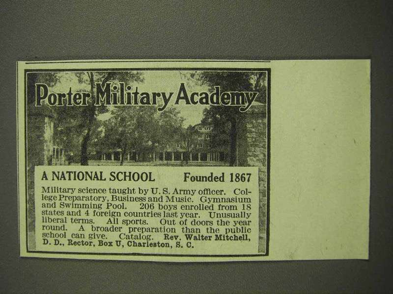 1917 Porter Military Academy - A National School