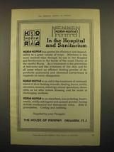 1918 Mennen Kora-Konia Powder Ad - Hospital, Sanitarium - $14.99