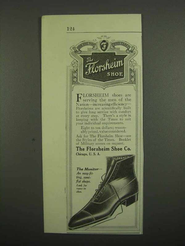 1918 Florsheim Shoe Ad - The Monitor