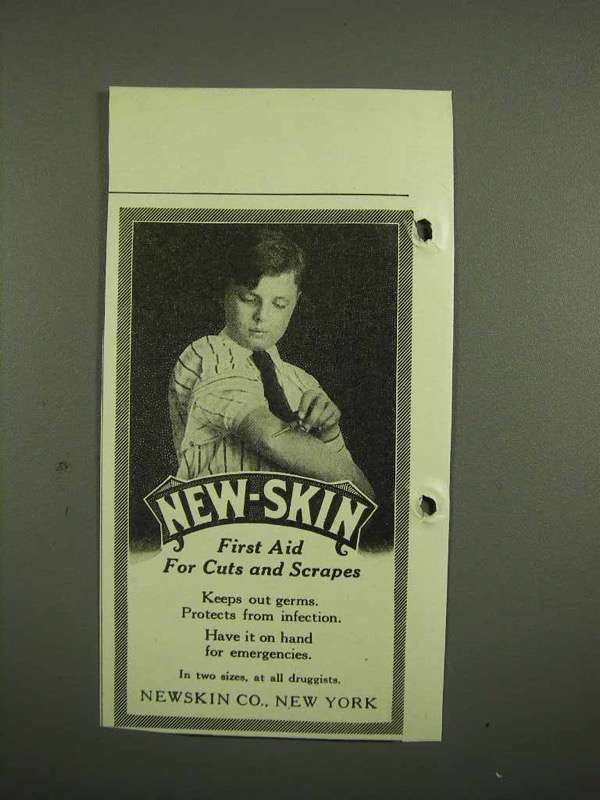 1918 New-Skin Antiseptic Ad - First Aid Cuts Scrapes