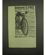 1918 Mead Electric Lighted Ranger Motorbike Ad - $14.99