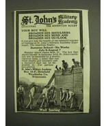 1918 St. John's Military Academy Ad - Wall Scaling - $14.99