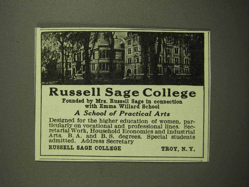 1918 Russell Sage College Ad