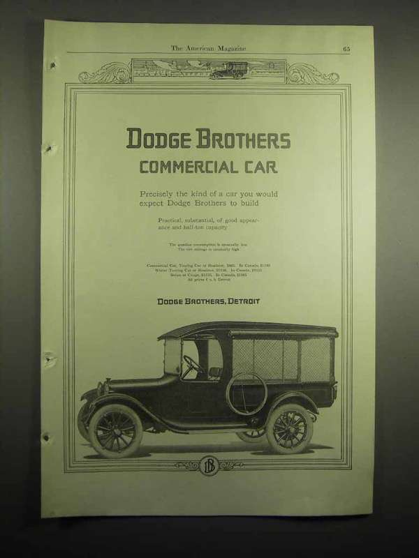 1918 Dodge Brothers Commercial Car Ad