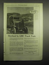 1918 GMC Truck Ad - Overland by GMC Truck Train - $14.99