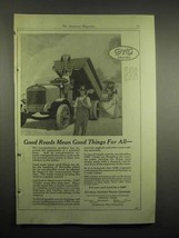 1918 GMC Truck Ad - Good Roads Mean Good Things - $14.99