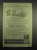 1918 Campbell's Vegetable Soup Ad - Proof in the Eating - $14.99