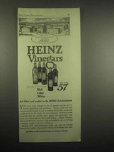 1918 Heinz Vinegars Ad - Filled at Heinz Establishment - $14.99