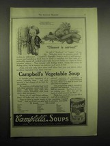 1918 Campbell's Vegetable Soup Ad - Dinner is Served - $14.99