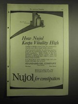 1918 Standard Oil Company Nujol Ad - Keeps Vitality High - $14.99
