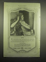 1918 Ivory Soap Ad - 99% Pure - Woman Brushing Hair - $14.99
