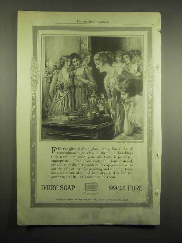 1918 Ivory Soap Ad - 99% Pure
