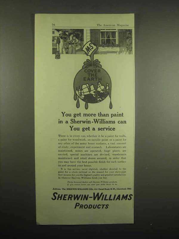 1918 Sherwin-Williams Paint Ad - You Get More