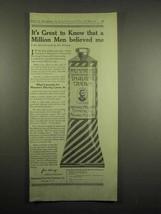 1918 Mennen's Shaving Cream Ad - Men Believed Me - $14.99
