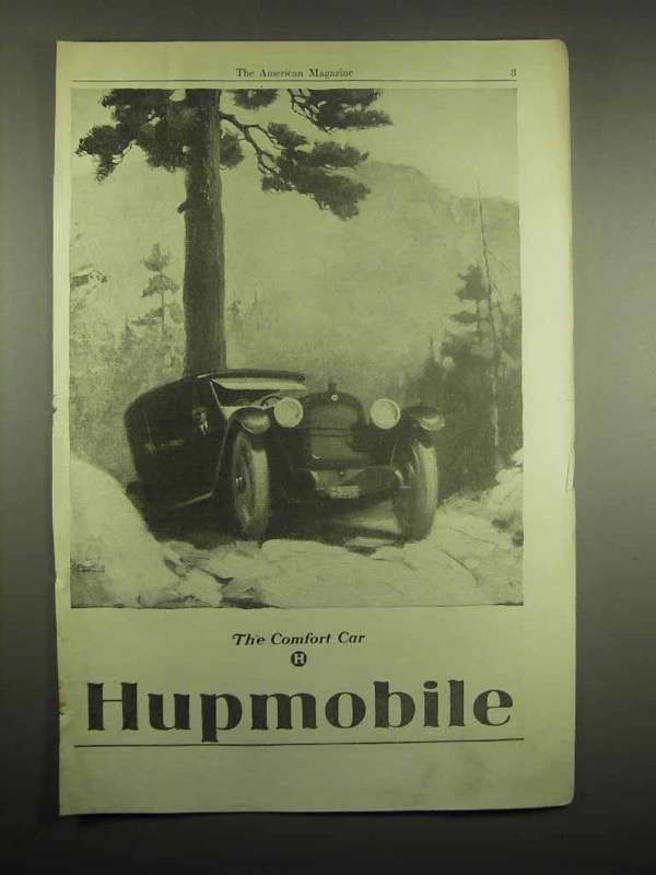 1918 Hupmobile Car Ad - Comfort Car