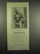1917 Kodak Camera Ad - There's Winter Sport Too - $14.99